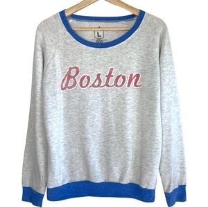 Loyal Army Boston Graphic Ringer Style Sweater